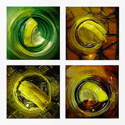 1 - view of lemons in a glass